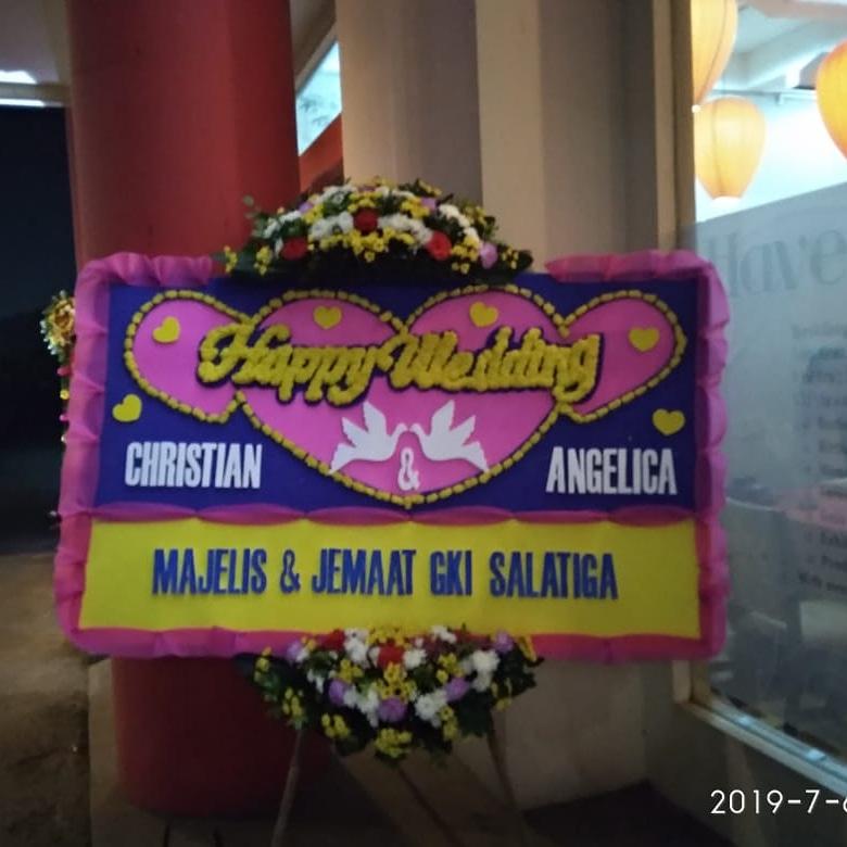 bunga papan wedding jkt